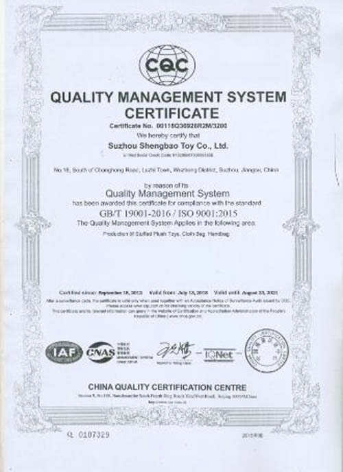 Warmly Celebrate Our Company Update ISO9001-2015