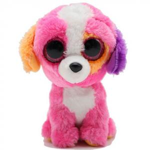 Big eyes plush dog toys farm animal stuffed cartoon dog