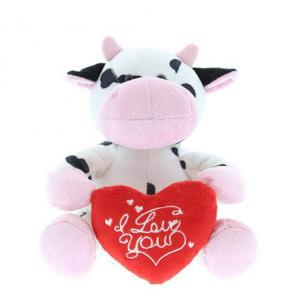 Popular Cute valentine plush stuffed cow