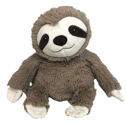 plush sloth microwaveable toy warmer
