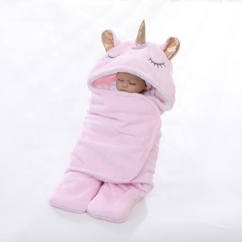 Soft New Born Baby Flannel Fleece Sherpa Swaddle Blanket - 副本