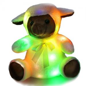 Custom LED light doll lovely plush toy