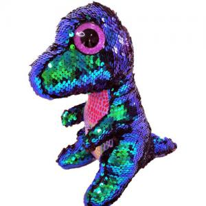 Magic Shimmer Reversible Sequin Stuffed Animal plush toy dinosaur
