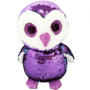 glitter eyes magic flip sequin fabric sea animal penguin plush toy
