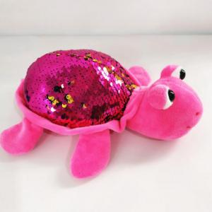 funny glitter flip mermaid stuffed sequin plush turtle