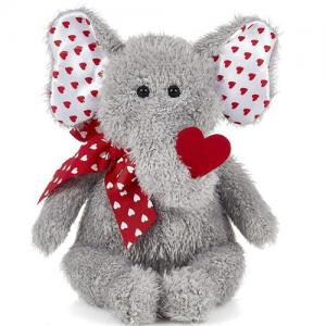 Valentine's Day Gift Cute Elephant Soft Plush Toy Valentine Stuffed Animal