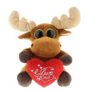 Personalized Stuffed valentines day plush moose