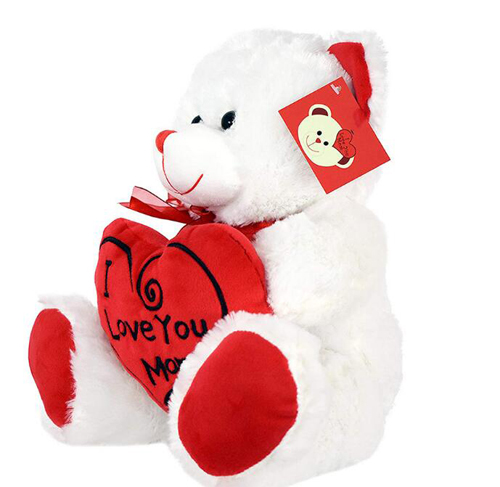 Teddy Bear Stuffed Plush Toy Holding LOVE Heart Soft Gift for Valentine Day