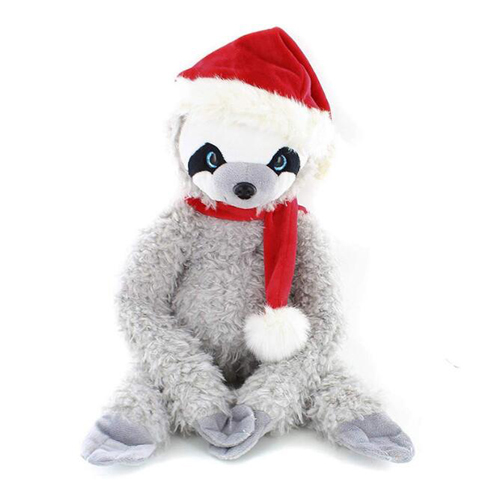 Custom Christmas gift plush animal gray sloth plush toys
