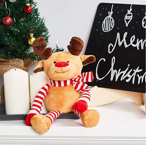 Plush Elk  Christmas Decoration Deer Stuffed Toy
