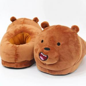 Winter Plush Toy Bear Slipper