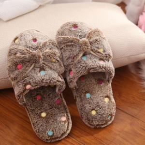custom home plush indoor slippers