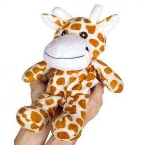 Lavender heatable giraffe animal toys