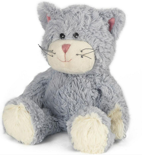 customized heated plush soft cuddly toy cat