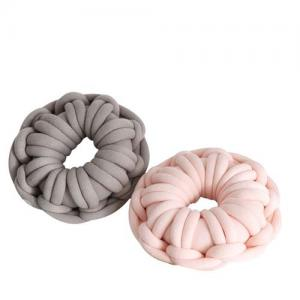 Thick Sofa Pillow Hand Yarn Bulky Throw Round Cushion