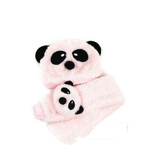plush panda warm hat plush