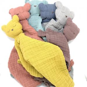 Muslin Soft Blanket Animal Toy Baby Comforter