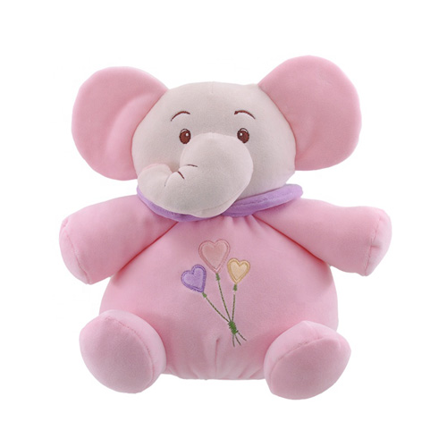Pink Elephant Baby Toy With Rattle