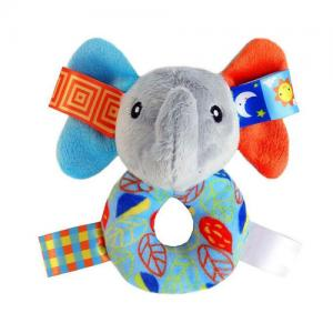 Baby soft plush ring rattle toys