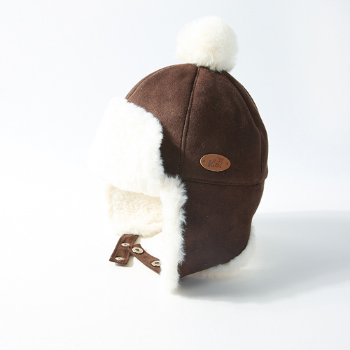 Baby Pompom Suede Hats