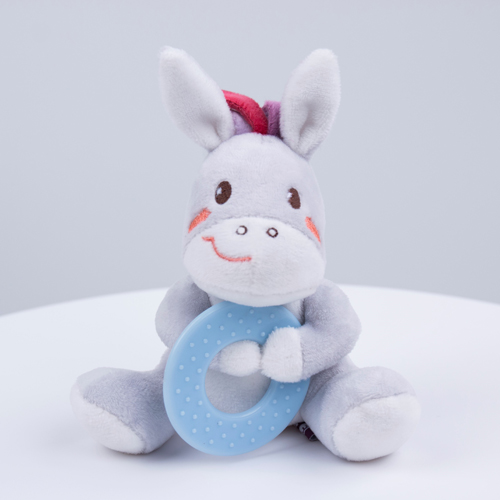 baby plush toy with teether