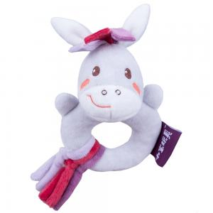 Baby soft plush ring rattle toys with high quality