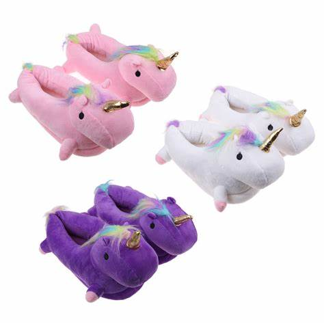 Animal Shaped Plush Unicorn Slipper