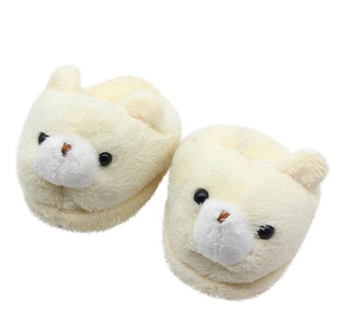 Plush Fluffy Animal Shaped bear Indoor Slippers for Adult