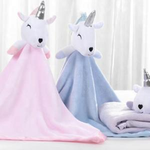 New Born Baby Super Soft With Cute Unicorn Head Toy Polar Fleece Blanket