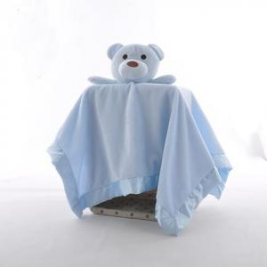 Baby Blanket Plush Polar Fleece Bear Head Comforting New Bron Blanket