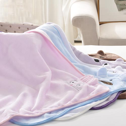 Children Super Soft Coral Fleece Cute Blanket