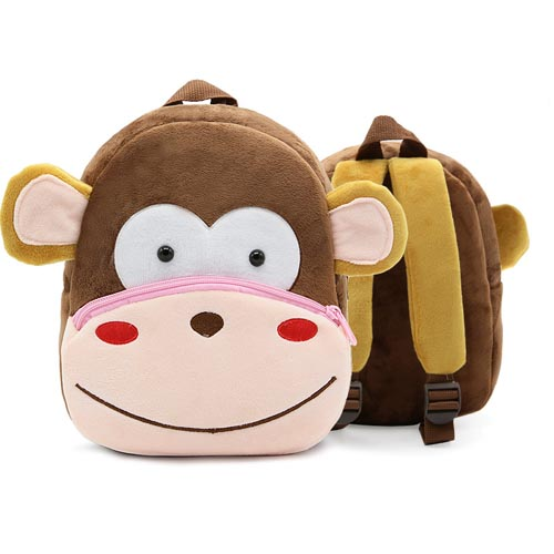 Custom Logo Printed Popular Children Cute School Bag 3D Animal Cartoon Plush Backpack for Kindergarten Kids