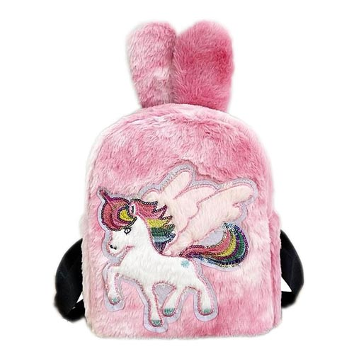 High quality wool cartoon unicorn cute schoolbag bagpack kids backpack
