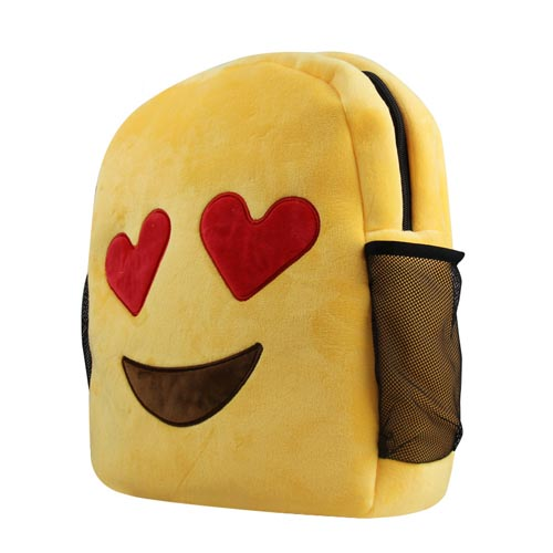 customize made EMOJI kids plush toys backpack school backpack wholesale