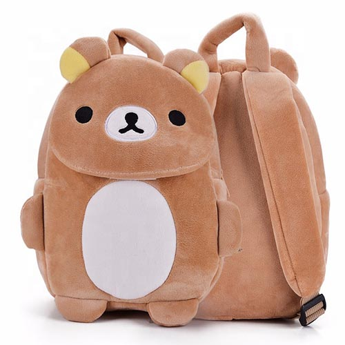 Customized Kids Backpacks Baby Plush Animal Toy School Stuffed Animal Backpack For Kids