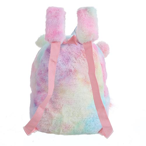 2020 New Kids Bags Rainbow Backpack Colors Girls Cute Cartoon Soft Plush Unicorn Leisure School Bags