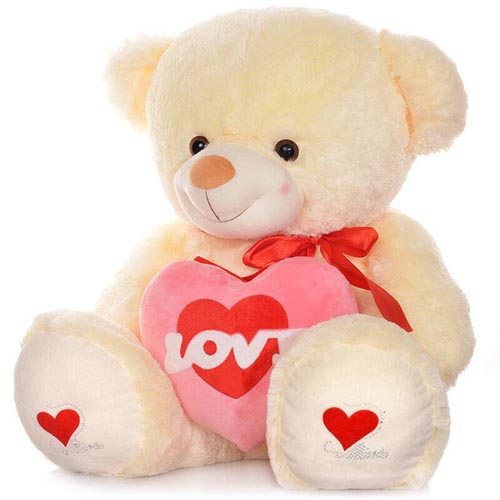 Roes plush toys teddy bear with heart for girlfriend