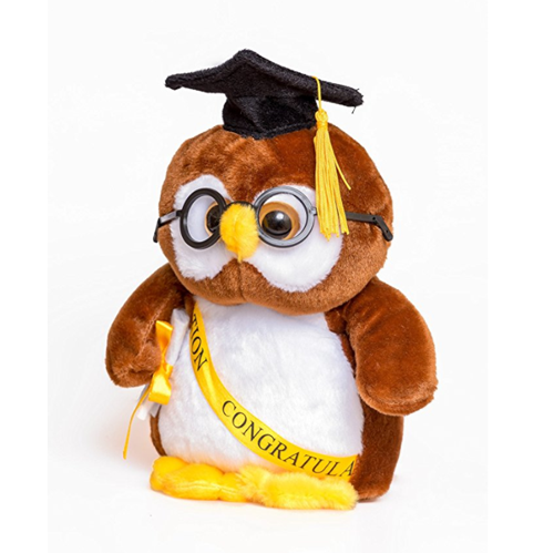 Graduation Gifts Plush Owl with Cap and Diploma in Hand