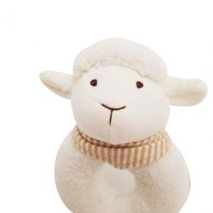 Custom Made Soft Sheep Animal  Organic Toy Plush For Baby Girls