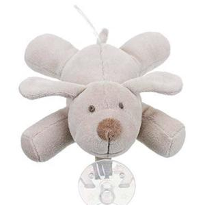 CE Organic Cotton Stuffed Puppy Pacifier with Stuffed Animal Plush Dog Pacifier Holder Baby Animal Pacifier