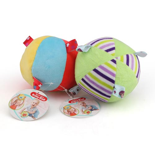 Cartoon Baby Rattle ring bell Toy Colorful Softy Plush Ball Toys