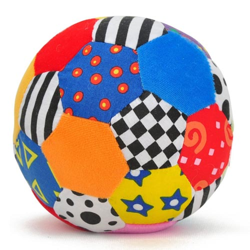 Baby education different colour stuffed ball for kids