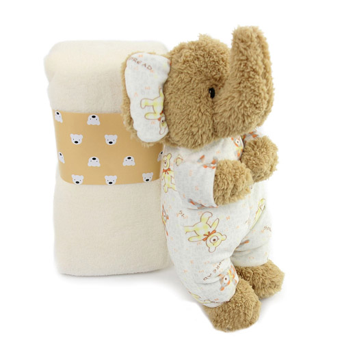 Cute Elephant Plush Toy  Baby Blanket Cartoon Animals For Children