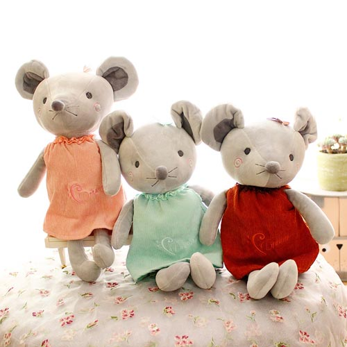 latest design cute stuffed rat plush toy fabric China toys for the year of the mouse mascot gift
