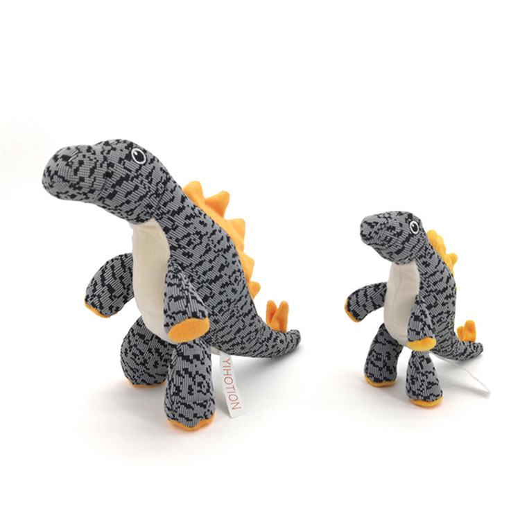 Flying Woven Dinosaur Squeaky Training Bite Resistance Plush Squeaky Chew Pet Dog Toys