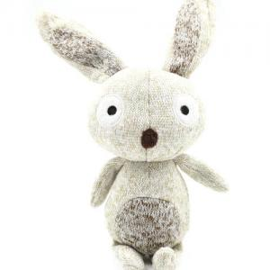Pet Toys Squeaky Knit Bunny Plush Stuffed Chew Dog Toys