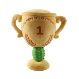 Trophy Champion Pet Plush Interactive Pet Toy Custom Stuffed Squeaky Chew Toys
