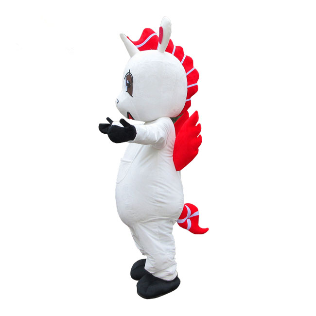 Hot sell Unicorn horse mascot costume for adults