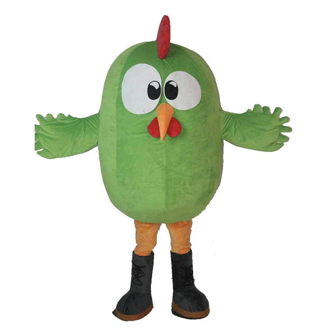 Popular cute custom green chicken mascot costumes professional for adults