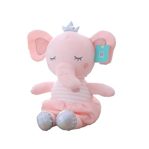 New design soft fluffy plush stuffed Elephant animal grey toy